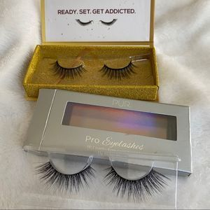 Bundle of 2 sets of False Eyelashes, 100% Silk